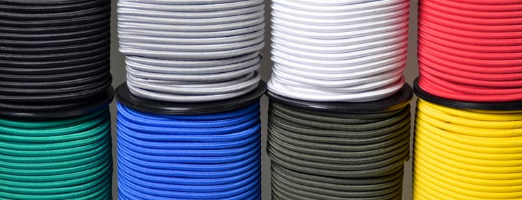 our ranges of coloured  bungee shock cord manufactured